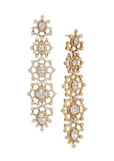 Adriana Orsini 18K Goldplated & Cubic Zirconia Cluster Linear Earrings