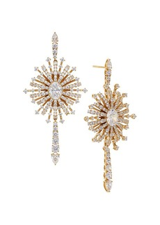Adriana Orsini 18K Goldplated & Cubic Zirconia Starburst Drop Earrings