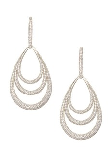 Adriana Orsini Pavé 18K Gold-Plated Lobe Drop Earrings