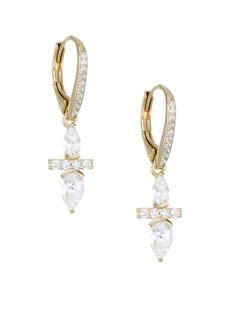 Adriana Orsini 18K Goldplated Silver & Cubic Zirconia Leverback Earrings