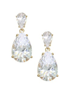 Adriana Orsini 18K Goldplated Sterling Silver Double Pear Drop Earrings