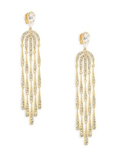 Adriana Orsini 18K Yellow Gold Waterfall Crystal Chandelier Earrings