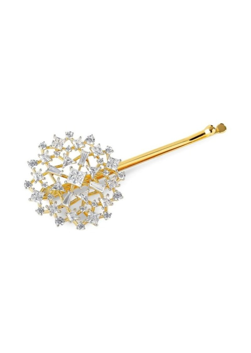 Adriana Orsini 18K Yellow Goldplated Silver & Embellished Button Bobby Pin