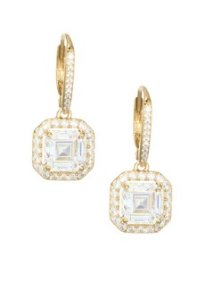 Adriana Orsini 18K Goldplated Sterling Silver Framed Square Leverback Earrings