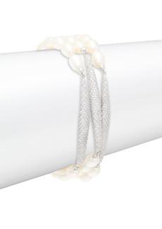 Adriana Orsini 5.5-6MM Freshwater Pearl Triple Strand Bracelet