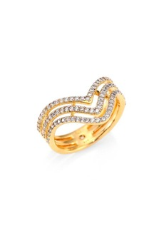 Adriana Orsini Armour Chevron Ring