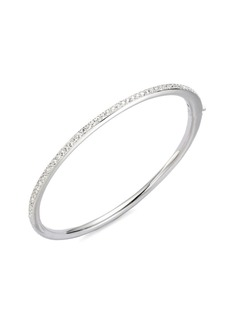 Channel Set Crystal Bangle Bracelet
