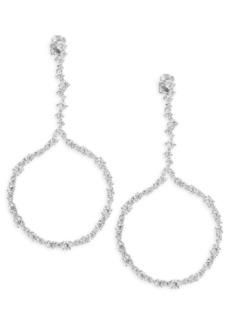Adriana Orsini Crystal Fronal Hoop Earrings