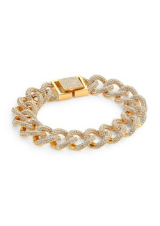 Crystal Pavé Curb Link Bracelet