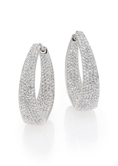 "Adriana Orsini Crystal Pavé Twist Hoop Earrings/1.25"""