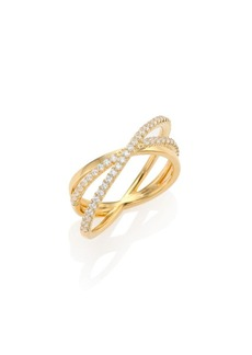 Adriana Orsini Crystal Pavé Wrap Ring