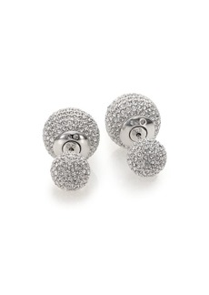 Adriana Orsini Decadence Pavé Crystal Ball Two-Sided Earrings