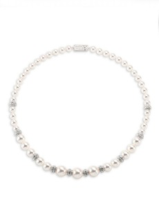 Adriana Orsini Faux Pearl & Crystal Necklace