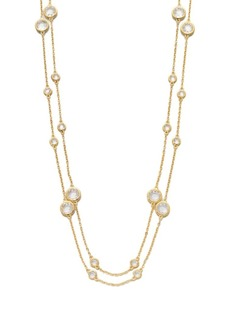 Adriana Orsini Long Double-Row Station Necklace