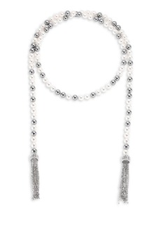 Adriana Orsini Multi Faux-Pearl Wrap Necklace/38""