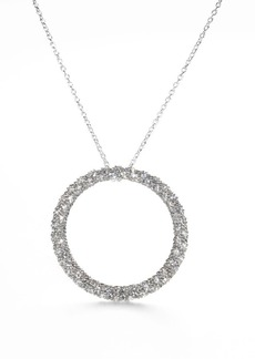 Adriana Orsini Pavé Circle Necklace
