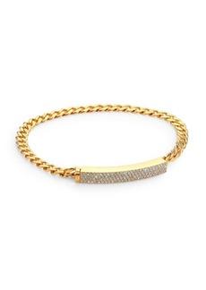 Adriana Orsini Pavé Crystal Curb Link Bracelet/Goldtone