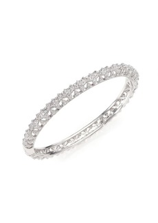 Pavé Crystal Floral Bangle Bracelet