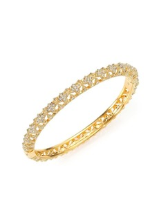 Adriana Orsini Pavé Crystal Flower Bangle Bracelet