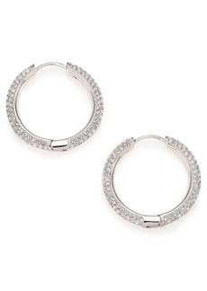 Adriana Orsini Pavé Crystal Hoop Earrings/0.9""