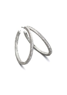 Adriana Orsini Pavé Crystal Hoop Earrings/1.5""