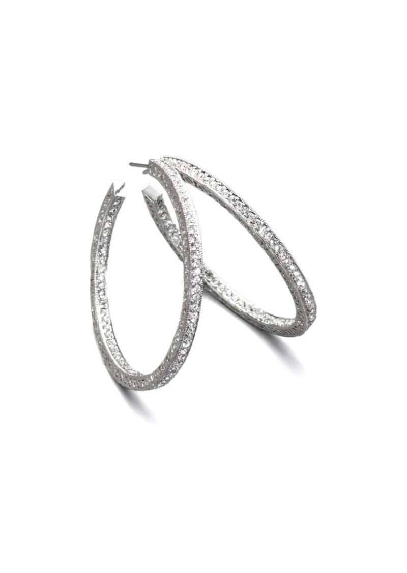 c6a33160e5888 Pavé Crystal Hoop Earrings/1.5