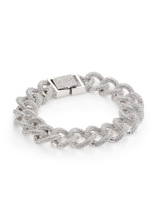 Pavé Curb Chain Bracelet