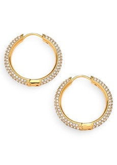 Adriana Orsini Pavé Hoop Earrings/0.8""