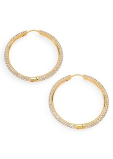 Adriana Orsini Pavé Hoop Earrings/1.4""