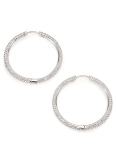 """Pavé Hoop Earrings/1.4"""""""