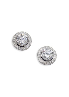 Adriana Orsini Sterling Silver Round Framed Stud Earrings