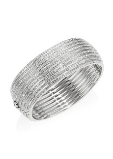 Adriana Orsini Striped Side Crystal Hinge Bracelet