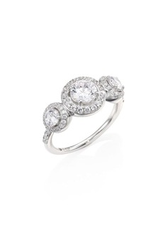 Adriana Orsini Three Crystal Round Ring