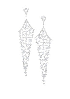 Adriana Orsini Azure & Crystal Chandelier Earrings