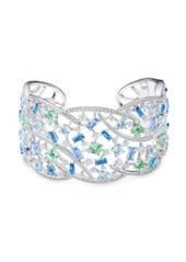 Adriana Orsini Azure Crystal Cuff Bracelet