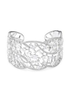 Azure Hinge Crystal Cuff