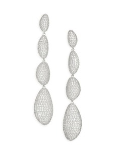 Cascading Pavé Drop Earrings