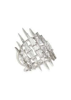 Adriana Orsini Crystal & Rhodium-Plated Shard Ring