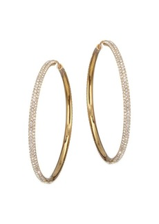 Adriana Orsini Crystal Pavé Hoop Earrings