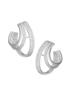 Adriana Orsini Crystal Pavé Lobe Hoop Earrings