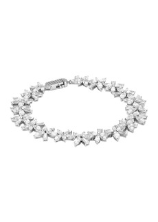 Adriana Orsini Cubic Zirconia Cluster Flower Bracelet