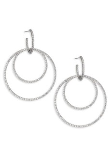 Adriana Orsini Cubic Zirconia Double Hoop Earrings