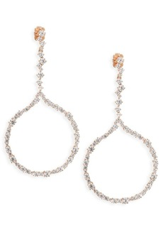 Adriana Orsini Cubic Zirconia Hoop Drop Earrings