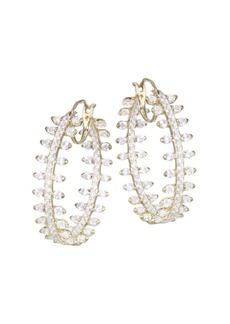Adriana Orsini Cubic Zirconia Pavé Hoop Earrings