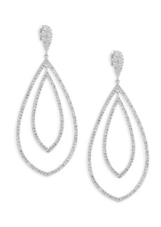 Adriana Orsini Double Drop Crystal Earrings