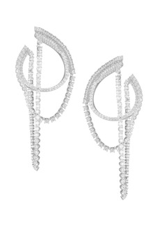 Adriana Orsini Eclectic Cubic Zirconia Front-To-Back Earrings