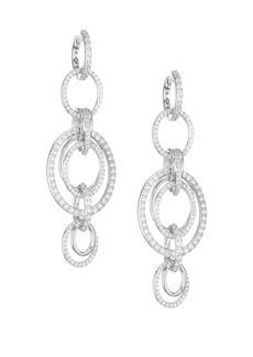 Adriana Orsini Eclectic Cubic Zirconia Orbital Drop Earrings