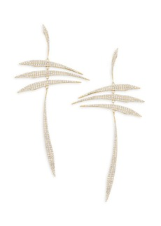 Adriana Orsini Eclectic Pavé 18K Yellow Gold-Plated Sterling Silver Mobile Earrings