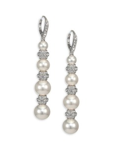 Adriana Orsini Faux Pearl & Crystal Drop Earrings