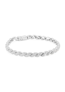 Adriana Orsini Flexible Pavé Crystal & Rhodium-Plated Link Bracelet